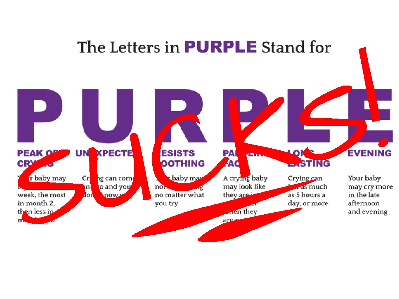 PURPLE Crying SUCKS