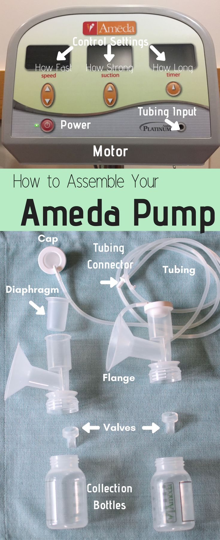 #bornandfed-When picking your pump model, consider what you need from your pump. Do you need industrial strength and long motor life? Do you need easily portable occasional use pump? Do you need something quick, cheap, and quiet? Learn pump lingo, how to assemble your pump, how to use your pump, how to pay for your pump, how get WIC coverage for your pump, and how to pump more milk. Everything you need to know. Lets go pump some milk.