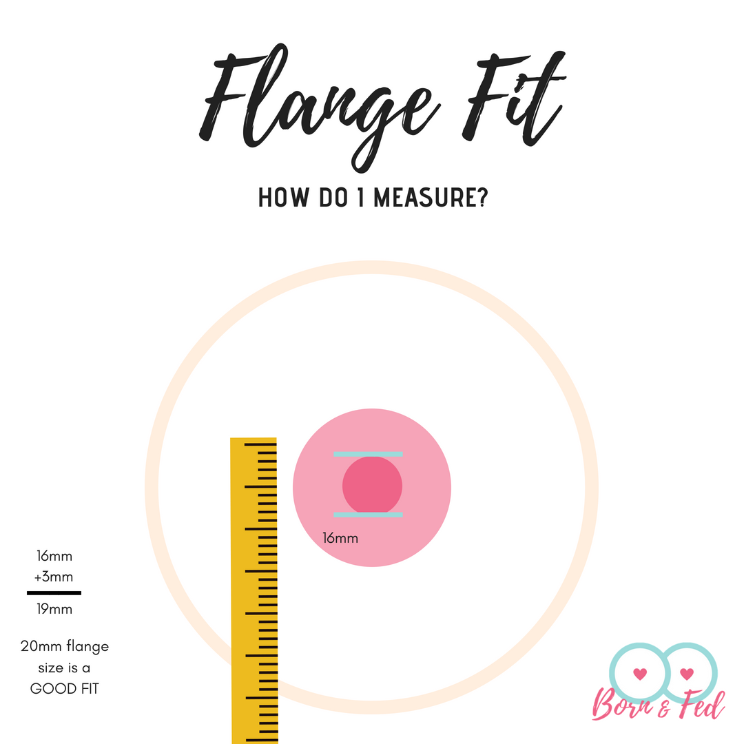 #bornandfed- how to measure your nipple for breast pump flange fit