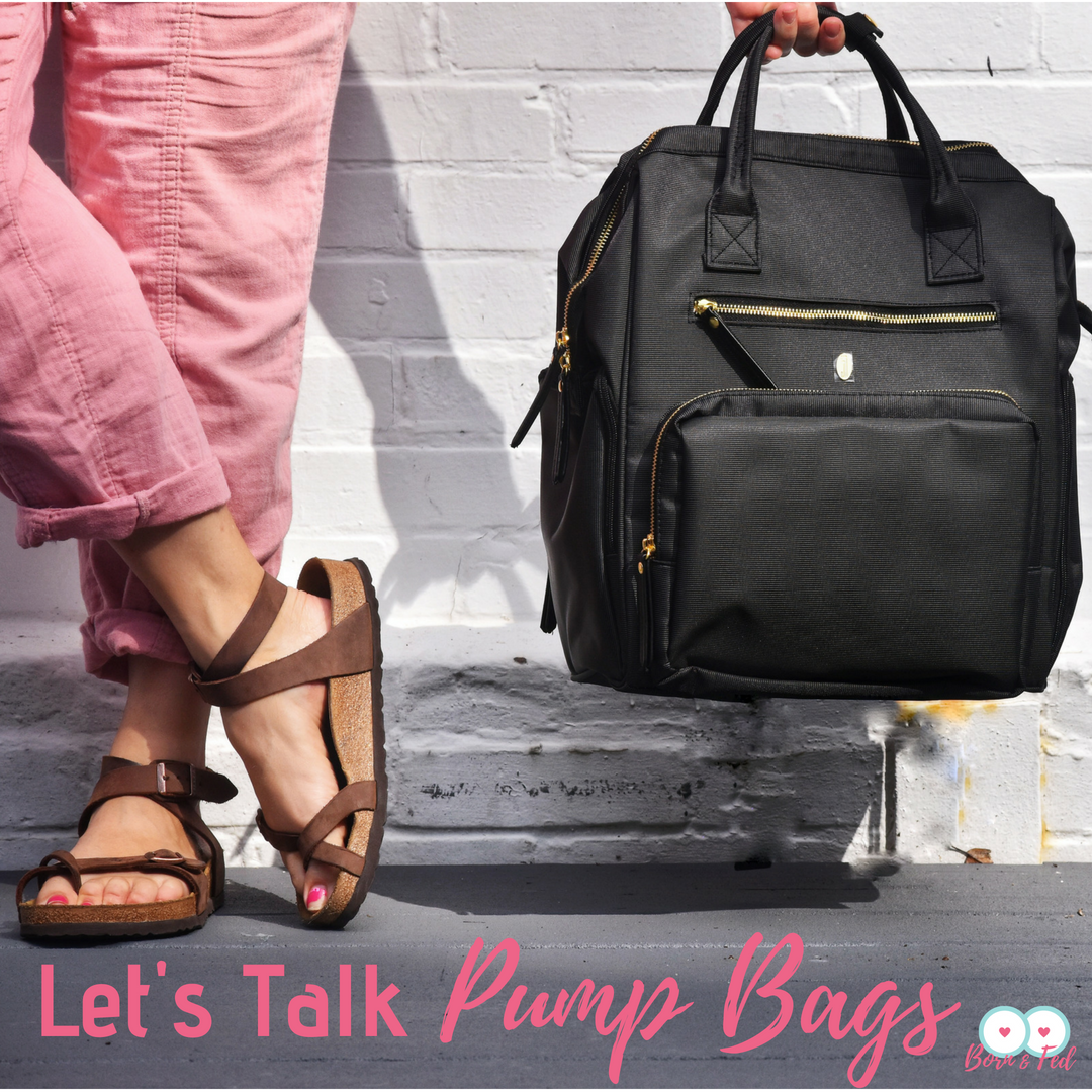 #bornandfed- How do you pack a killer pump bag?  What do you need in it?  What bag should you get?  Find out here!