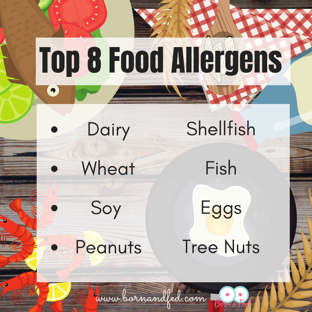 #bornandfed- The big 8, Top 8 Food Allergens constitute 90% all food allergies