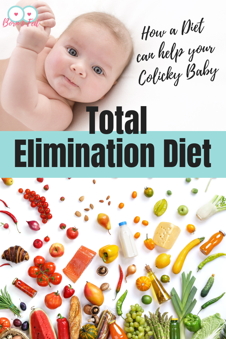 #bornandfed- Did you know a diet can help your crying breastfed baby?  Not a diet for baby but a diet for you.  A total elimination diet helps identify foods that are potentially harmful for your baby. Find out how to help your colicky or reflux baby now.