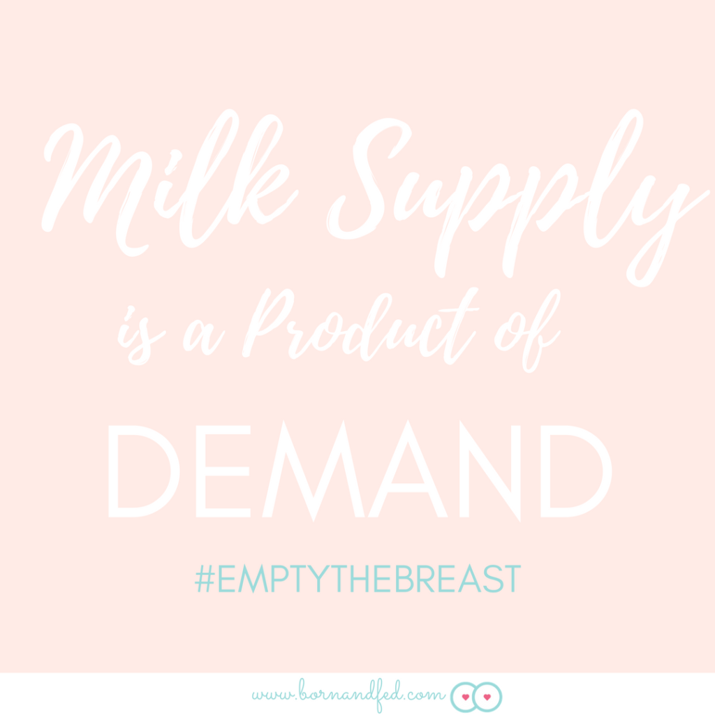 #bornandfed- Milk supply is a product of supply and demand